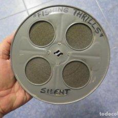 Cine: FISHING THRILLS (EMOCIONES DE PESCA) DOCUMENTAL 16 MM -MUDO - RETRO VINTAGE FILM. Lote 193341708