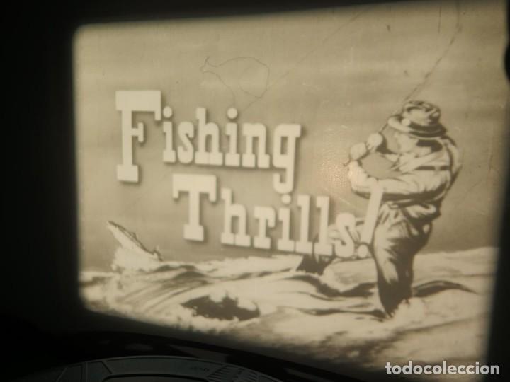 Cine: FISHING THRILLS (EMOCIONES DE PESCA) DOCUMENTAL 16 MM -MUDO - RETRO VINTAGE FILM - Foto 2 - 193341708