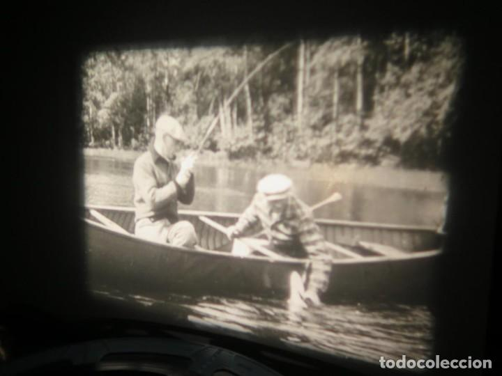 Cine: FISHING THRILLS (EMOCIONES DE PESCA) DOCUMENTAL 16 MM -MUDO - RETRO VINTAGE FILM - Foto 21 - 193341708