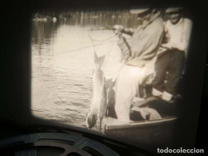 Cine: FISHING THRILLS (EMOCIONES DE PESCA) DOCUMENTAL 16 MM -MUDO - RETRO VINTAGE FILM - Foto 28 - 193341708