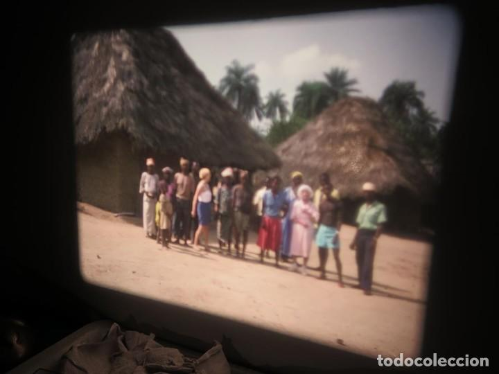 Cine: ANTIGUA BOBINA PELÍCULA-FILMACIONES -AMATEUR-SIERRA LEONA-AÑOS 80 16 MM, RETRO VINTAGE FILM - Foto 18 - 194300253