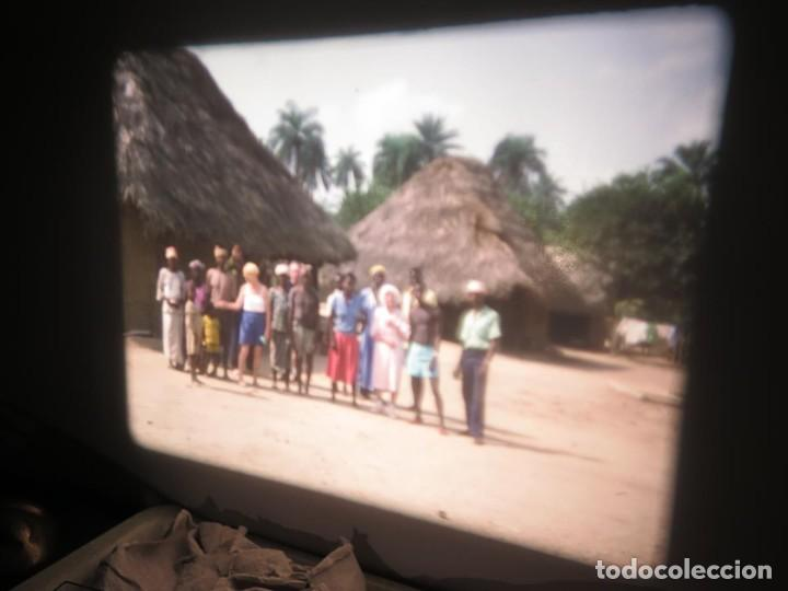 Cine: ANTIGUA BOBINA PELÍCULA-FILMACIONES -AMATEUR-SIERRA LEONA-AÑOS 80 16 MM, RETRO VINTAGE FILM - Foto 19 - 194300253