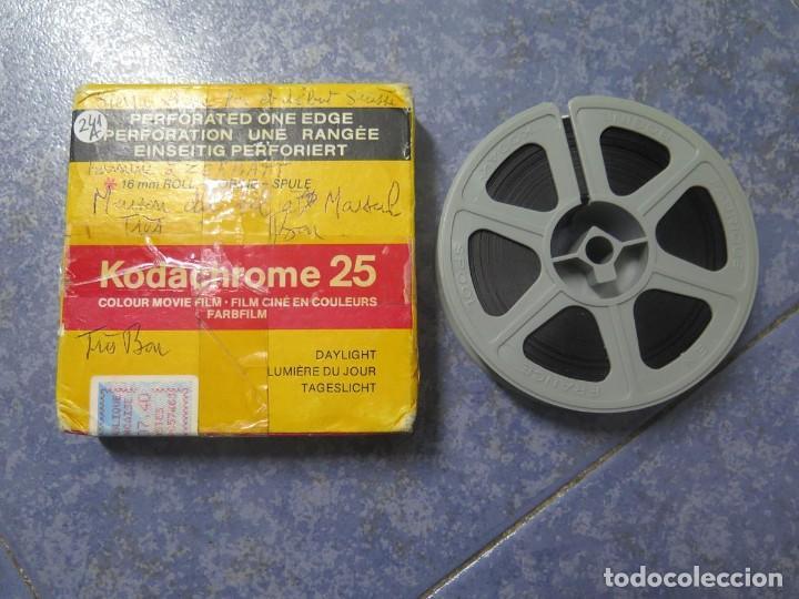 Cine: ANTIGUA BOBINA PELÍCULA-FILMACIONES -AMATEUR-SIERRA LEONA-AÑOS 80 16 MM, RETRO VINTAGE FILM - Foto 48 - 194300253