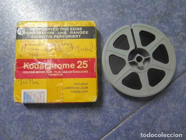 Cine: ANTIGUA BOBINA PELÍCULA-FILMACIONES -AMATEUR-SIERRA LEONA-AÑOS 80 16 MM, RETRO VINTAGE FILM - Foto 49 - 194300253