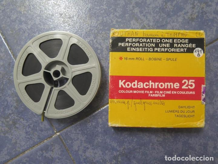 ANTIGUA BOBINA PELÍCULA-FILMACIONESAMATEUR -BOUTHAN TERMINÉ Á THIMPHU-AÑOS 80-16 MM, RETRO VINTAGE (Cine - Películas - 16 mm)