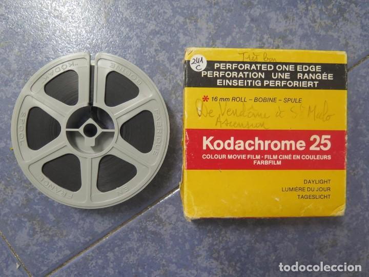 ANTIGUA BOBINA PELÍCULA-FILMACIONES AMATEUR,DE VENDÔME Á SAINT-MALO-AÑOS 80- 6 MM, RETRO VINTAGE (Cine - Películas - 16 mm)