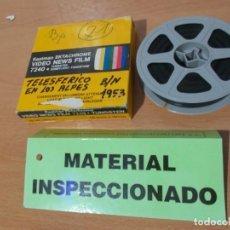 Cine: ENVIO CON TC: 4€ TELESFERICO EN LOS ALPES 1953, PELICULA CINE FILM 16MM,HOME MOVIE !DOCUMENTO UNICO!. Lote 217676897
