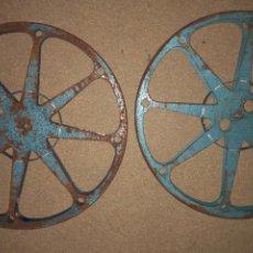 Cinema: LOTE 2 BOBINAS 600 METROS PARA PELÍCULA DE CINE DE 16MM BREPI FILMS. Lote 241790145