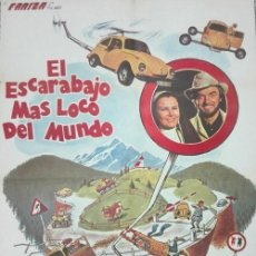 Cine: EL ESCARABAJO MÁS LOCO DEL MUNDO (1975 / LARGOMETRAJE). Lote 244470045