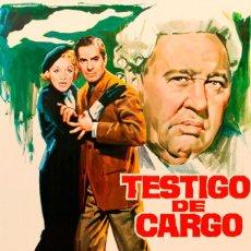 Cinema: TESTIGO DE CARGO. Lote 266231648
