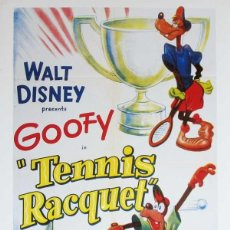 "Cinema: GOFY EN ""TENNIS RACQUET"" (1949 / ESPAÑOL / 16MM DISNEY RELEASE). Lote 266903884"