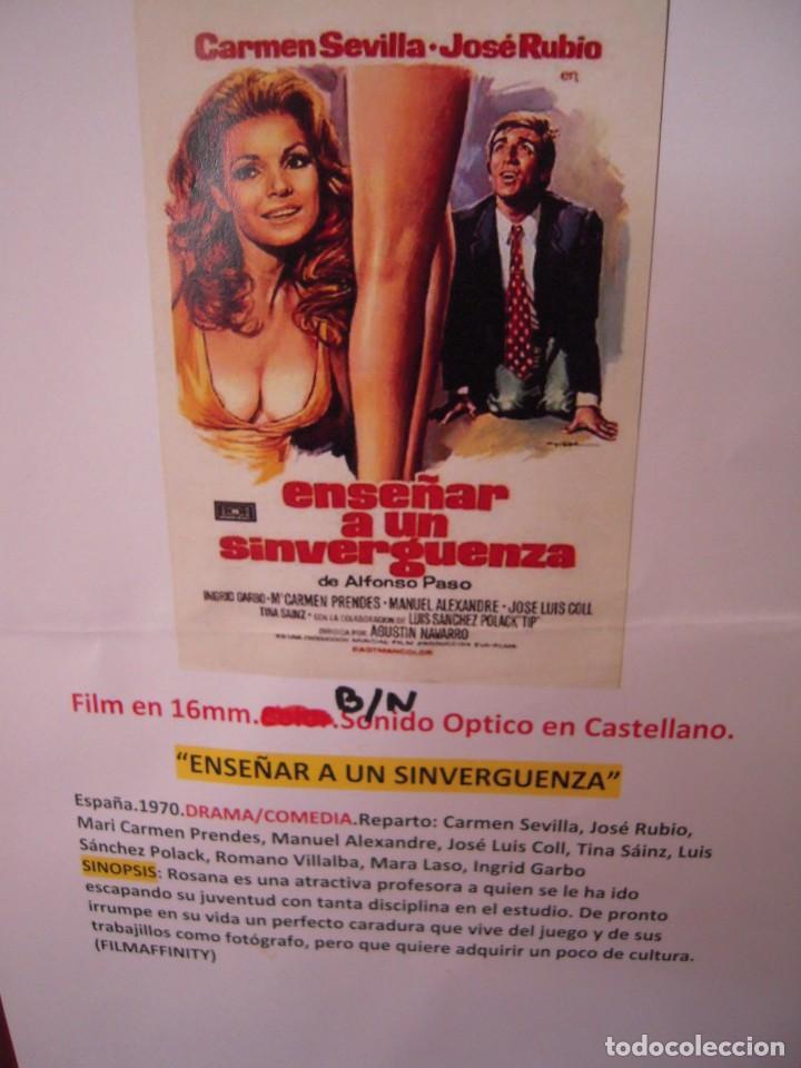 Cine: ENSEÑAR A UN SINVERGUENZA -ver fotos- Carmen Sevilla Jose Rubio 1970 pelicula de cine en 16mm B/N - Foto 2 - 288969068