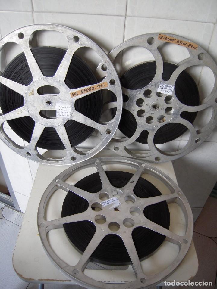 LOTE 16MM SOL NEGRO + LA TRAMA + UP FROM THE BEAH 3 ROLLOS SUELTOS (Cine - Películas - 16 mm)