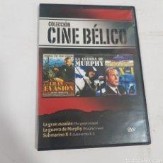 Cine: DVS62 LA GRAN EVASIÓN LA GUERRA DE MURPHY Y EL SUBMARINO X1 -DVD SEGUNDAMANO TAPA FINA. Lote 296560398
