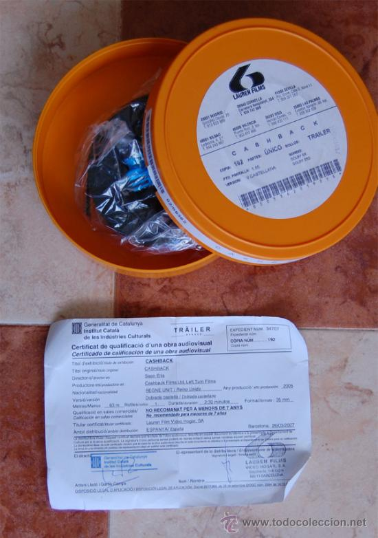 TRAILER CASHBACK 35 MM (Cine - Películas - 35 mm)