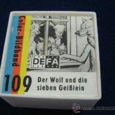 Cine: ANTIGUA PELICULA ALEMANA DE 35 MM EN SU CAJA - DER WOLF UND DIE SIEBEN GEIBLEIN . Lote 33468408