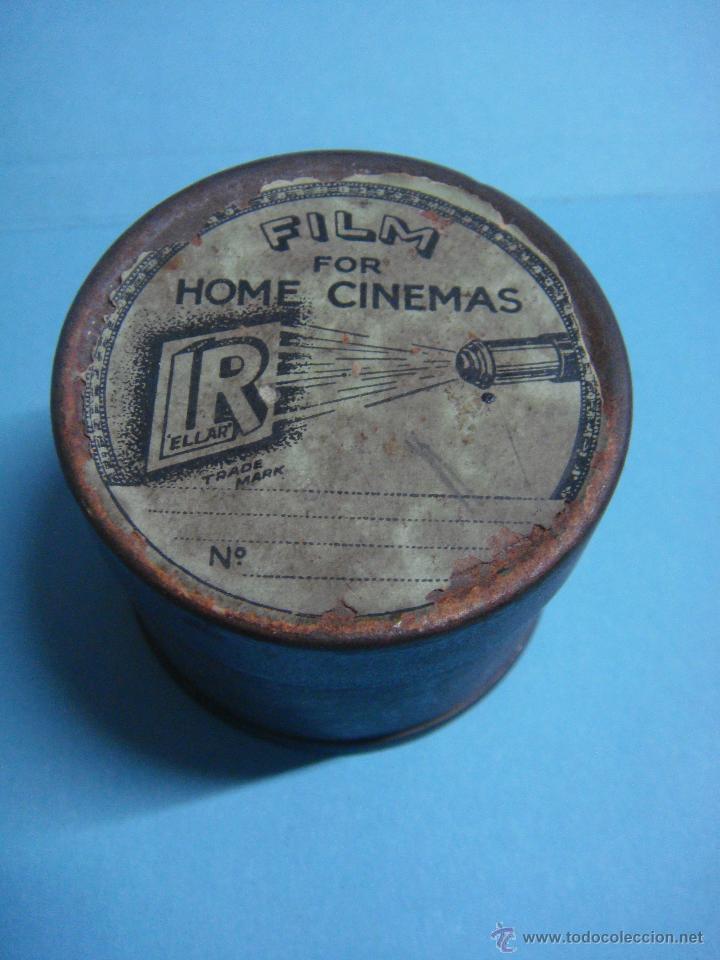 ANTIGUA LATA CON PELÍCULA AMERICANA DE CINE DE LOS AÑOS 50. MUY RARO. ACTOR EDWARD G. ROBINSON. (Cine - Películas - 35 mm)
