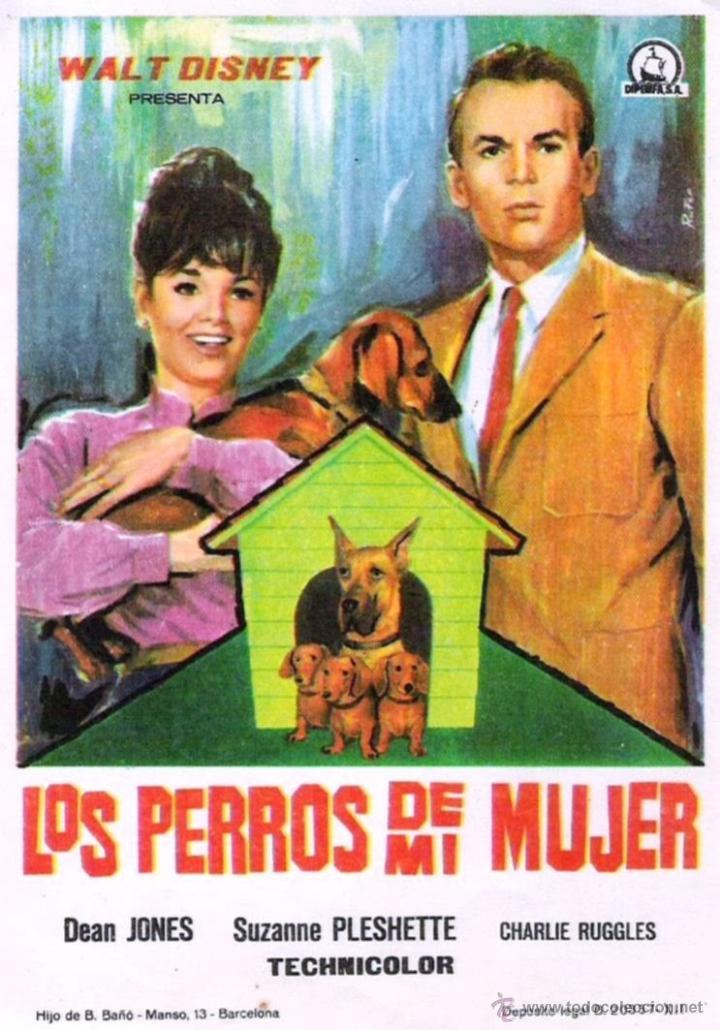 Cine: BOBINA ANTIGUA DE TRAILER AMERICANO. PELÍCULA LOS PERROS DE MI MUJER. 1966. CINE. WALT DISNEY - Foto 2 - 47116107