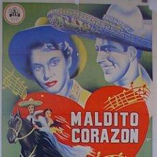 Cine: PELÍCULA DE CINE EN 35MM MALDITO CORAZÓN (CONTIGO A LA DISTANCIA) (1954). Lote 51061687