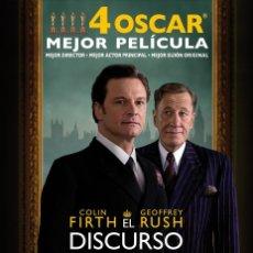 Cine: TRÁILER PELÍCULA DE CINE EN 35MM EL DISCURSO DEL REY. Lote 72122199