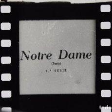Cine: 2 FILMINAS RELLEV RELLEY EN 35MM NOTRE DAME Y ESTATUAS DE LOS JARDINES DE PARÍS. Lote 90812765