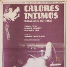 Cine: CALORES INTIMOS . LARGOMETRAJE 35 MM ( VER CAPTURAS DE PROYECCION Y VIDEO). Lote 93938230