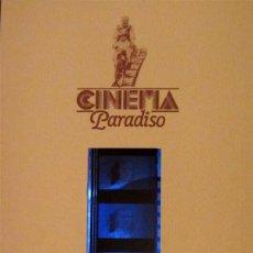 Cine: TARJETA OFICIAL CON LOS FOTOGRAMAS ORIGINALES DE CINEMA PARADISO EN 35MM.. Lote 95503087