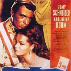 Cine: PELÍCULA DE CINE EN 35MM EL DESTINO DE SISSI (1957). Lote 104891655