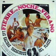 Cine: PELÍCULA DE CINE EN 35MM FIEBRE DE NOCHE DE VERANO (1978). Lote 111511623
