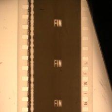 Cine: PELÍCULA DE CINE EN 35MM RÓTULO FIN CON MÚSICA. NUEVO LABORATORIO.. Lote 115092639