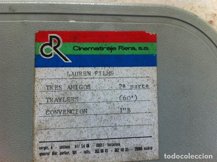 Cine: 2 Cintas Film Original Película Cine Tres Amigos 2ª y 3ª parte. Lauren Films. Chematiraje Riera. - Foto 8 - 130794192