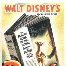 Cine: PELÍCULA DE CINE EN 35MM BAMBI (1942). Lote 136576150
