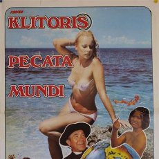Cine: PELÍCULA LARGOMETRAJE DE CINE EN 35MM KLITORIS PECATA MUNDI (1976). Lote 144211318
