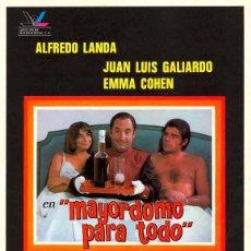 Cine: PELÍCULA LARGOMETRAJE DE CINE EN 35MM MAYORDOMO PARA TODO (1976). Lote 197682551