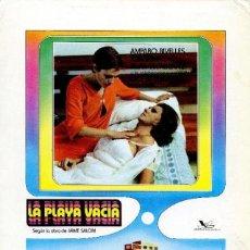 Cine: PELÍCULA LARGOMETRAJE DE CINE EN 35MM LA PLAYA VACÍA (1977). Lote 202560726
