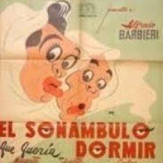 Cine: PELÍCULA LARGOMETRAJE DE CINE EN 35MM EL SONÁMBULO QUE QUERÍA DORMIR (1956). Lote 203611060
