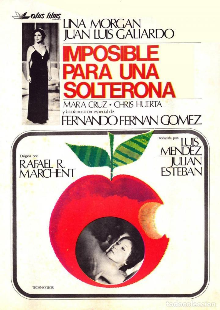 PELÍCULA LARGOMETRAJE DE CINE EN 35MM IMPOSIBLE PARA UNA SOLTERONA (1976) (Cine - Películas - 35 mm)