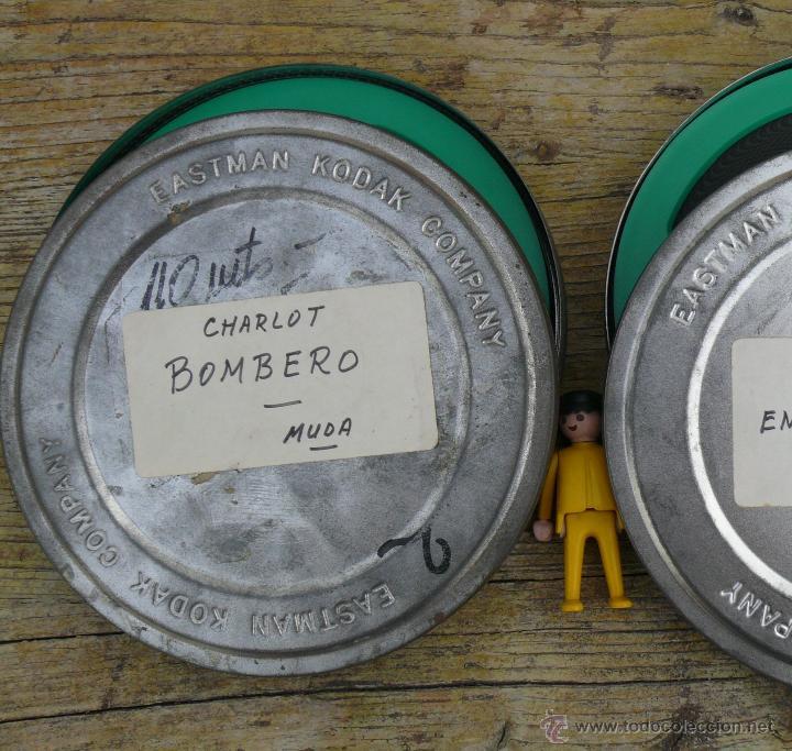 PELICULA ANTIGUA 8 MM O SUPER 8 CHARLOT CINE MUDO EN GRAN CAJA KODAK COMPANY EASTMAN BOMBERO (Cine - Películas - 8 mm)