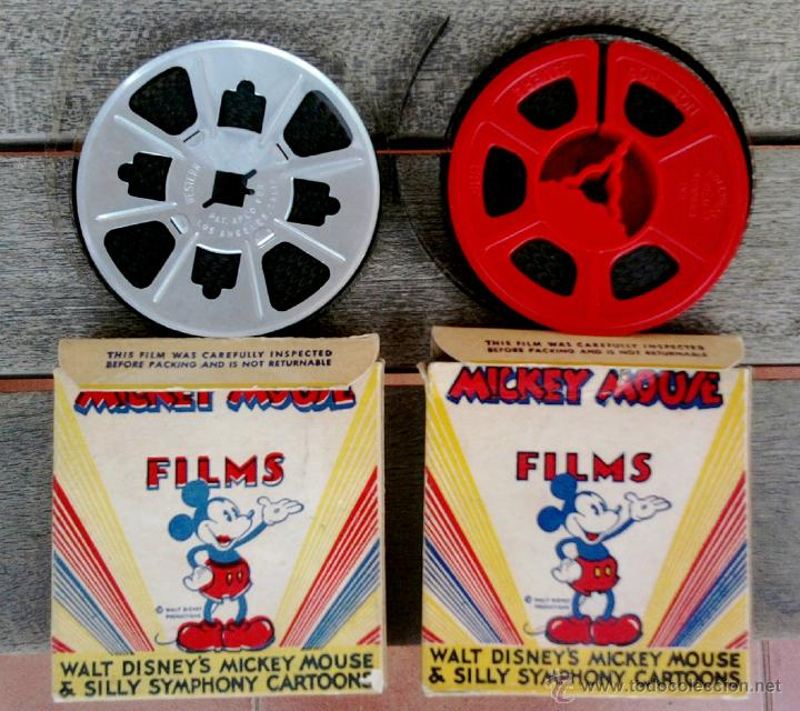 WALT DISNEY,MICKEY MOUSE, 2 PELICULAS 8 MM,AMERICANAS DE LOS ANGELES,AÑOS 40-50,HOLLYWOOD FILM (Cine - Películas - 8 mm)
