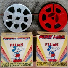 Cine: WALT DISNEY,MICKEY MOUSE, 2 PELICULAS 8 MM,AMERICANAS DE LOS ANGELES,AÑOS 40-50,HOLLYWOOD FILM. Lote 43484532