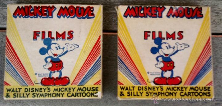 Cine: WALT DISNEY,MICKEY MOUSE, 2 PELICULAS 8 MM,AMERICANAS DE LOS ANGELES,AÑOS 40-50,HOLLYWOOD FILM - Foto 2 - 43484532