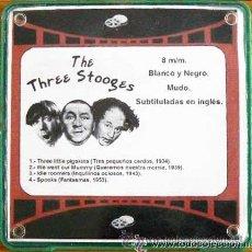 Cine: 8MM THE THREE STOOGES (LOS TRES CHIFLADOS) 4 PELÍCULAS EN CARRETE DE 180 MTS.. Lote 37688301