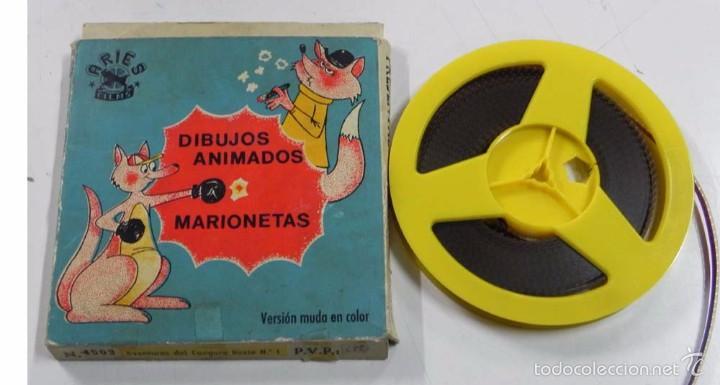 ANTIGUA PELICULA 8 MM. DIBUJOS ANIMADOS Y MARIONETAS, ARIES FILMS, AVENTURAS DEL CANGURO LOXIE N.1, (Cine - Películas - 8 mm)