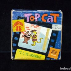 Cine: TOP CAT. T.C. VS. GRISWALD. 8 MM., BLANCO Y NEGRO. MUDA. Lote 71751819