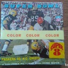 Cine: PELÍCUL 8MM,PRIMERA FINAL SUPER BOWL 1967 PACKERS VS K.C.CHIEFS.PRECINTADA ORIGINAL NUEVA.. Lote 92787715