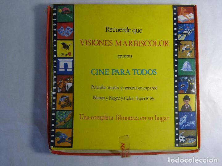 Cine: PELICULA COLOR SUPER 8 SONORO. ROBINSON Y VIERNES LA ISLA ENCANTADA.. VISIONES MARBISCOLOR. - Foto 2 - 94061080