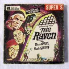 Cine: EL CUERVO, THE RAVEN. EDGAR ALLAN POE'S AMERICAN INTERNATIONAL PICTURE SUPER 8. Lote 136229604