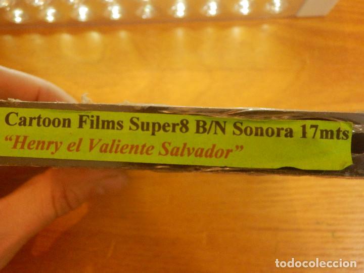 Cine: Película - Super 8 Milímetros - mm. - Henry El Valiente Salvador B/N - Sonora - 17 mts Con Precinto - Foto 2 - 104654655