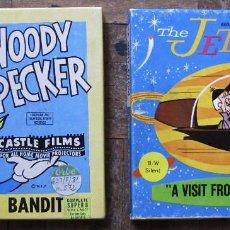Cine: THE JETSONS. A VISIT FROM GRANDPA. BLANCO Y NEGRO, MUDA; WOODY WOOODPECKER SUPER 8, BLANCO Y NEGRO.. Lote 111037327
