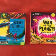 Cine: SCIENCE FICTION FILM Y WAR OF THE PLANETS 2 PELICULAS DE 8 MM. . Lote 118459667